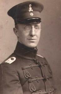 Alexander Becker als Einjähriger (Offiziersanwärter) 898 in Rathenau