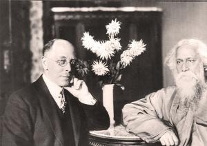 Minister C. H. Becker mit seinem Gast Rabindranaht Tagore