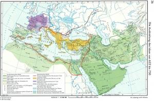 Ausbreitung des Islam, aus: Putzger, Historischer Atlas, Cornelsen Berlin 102.Auflage S. 36