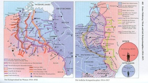 dtv-Atlas Weltgeschichte Kriegsverlauf im Westen, aus: Bd. 2., 39. Auflage 2006, S. 402 (Herzfeld war also mitten drin!)