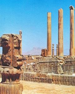 Ruinen von Persepolis in der Provinz Fars, Südpersien