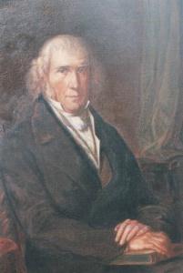 Carl Ferdinand Becker *1775 zu Lieser an der Mosel, +1849 zu Offenbach Gemälde des Offenbacher Malers G.W.Bode, etwa 1840. Foto einer Kopie von 1919