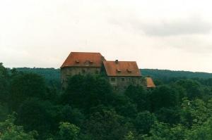 Burg Tannenberg in Nentershausen bei Kassel, Nordhessen. Aufnahme Heinz Knab, 1980er Jahre