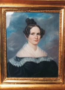 Charlotte von Baumbach, die Ur-Ur-Großmutter von Heinz Knab und jüngere Schwester Ernst-Wilhelms. Das Gemälde entdeckte er auf Burg Tannberg