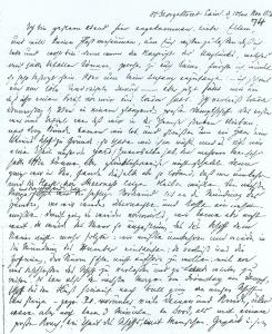 Brief Ferdinand Beckers aus Edinburgh an seine Eltern in Offenbach vom 10.11.1826. Reise nach Schottland mit Schiffsunfall vor Hull