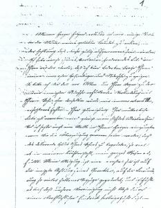 Erster Brief von Ziliaris Roedlich an Amalie Becker vom 11.7.1832