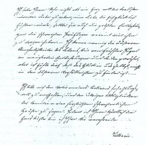 Seite 3 des Briefs Ferdinands vom 10.11.1826