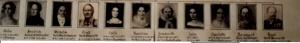Familie von Baumbach: die 10 Geschwister und der Verfasser, links Sophie, 4. von links Ernst-Wilhelm