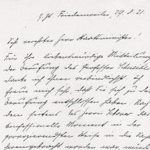 Brief von Konrad Adenauer, Teil 1